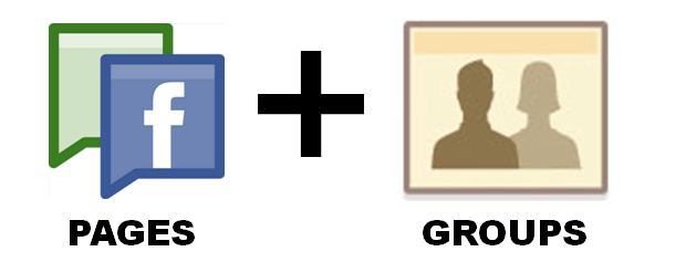 connect facebook fanpage with groups