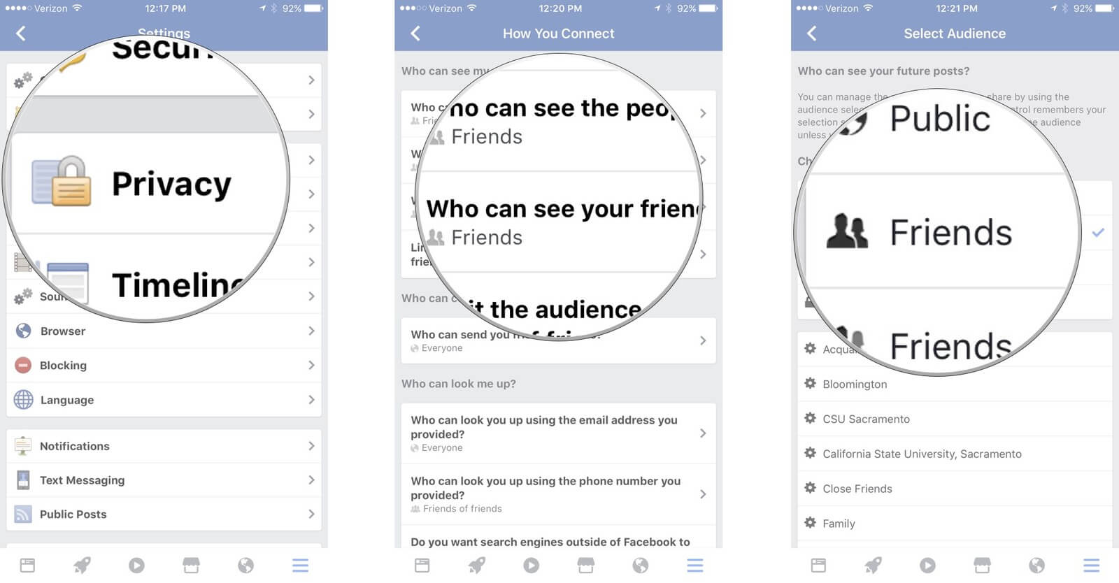 facebook privacy settings to make posts public