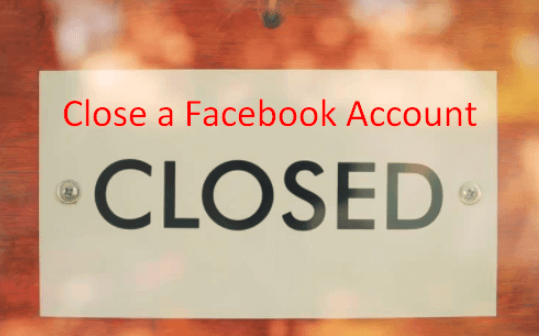 close a facebook account